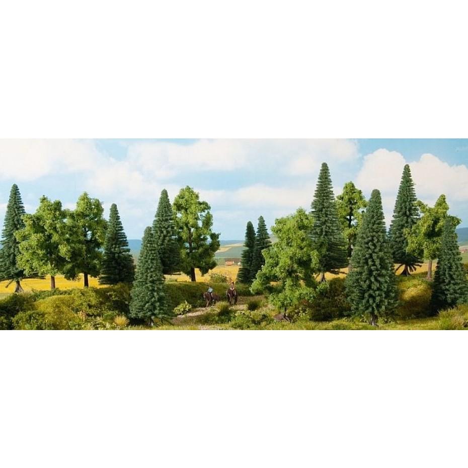 NOCH - 24621 - Mixed Forest 16 pieces, 10-14 cm H0,TT