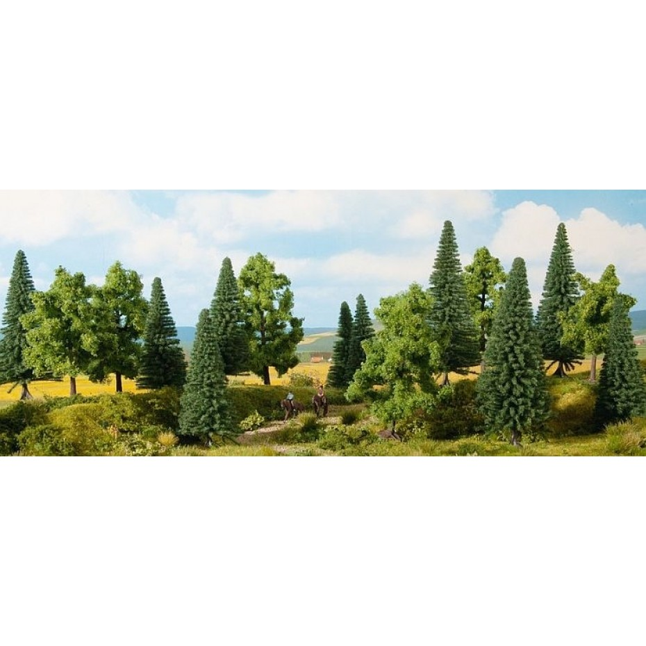 NOCH - 24623 - Mixed Forest 16 pieces, 4-10 cm H0,TT,N,Z
