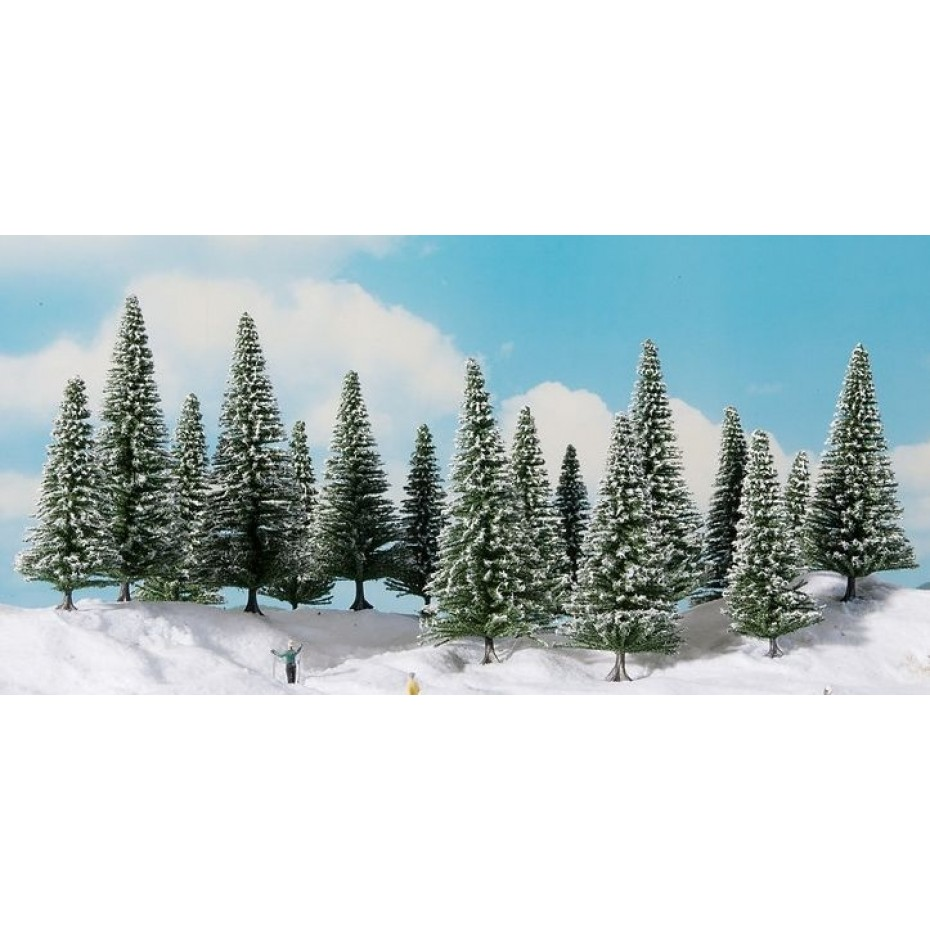 NOCH - 24680 - Snowy Fir Trees 8 pieces, 10-14 cm H0,TT