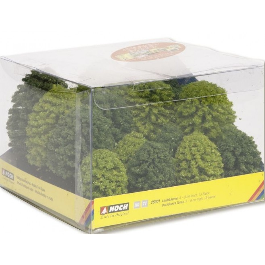 NOCH - 26001 - Hobby deciduous trees  5 to 9cm   15 trees
