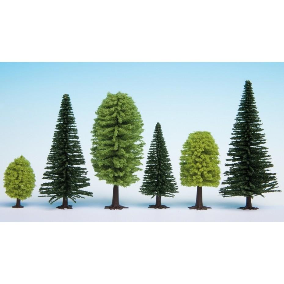 NOCH - 26811 - Mixed Forest 25 pieces, 5 - 14 cm high H0,TT