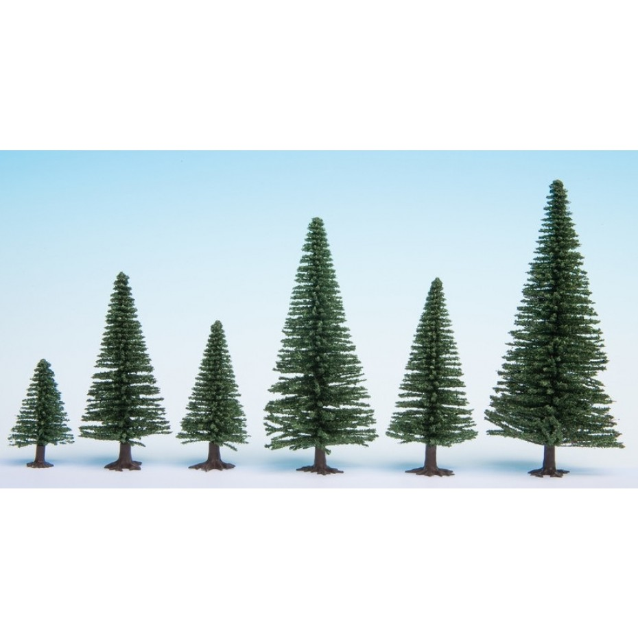 NOCH - 26820 - Model Fir Trees 25 pieces, 5 - 14 cm high H0,TT