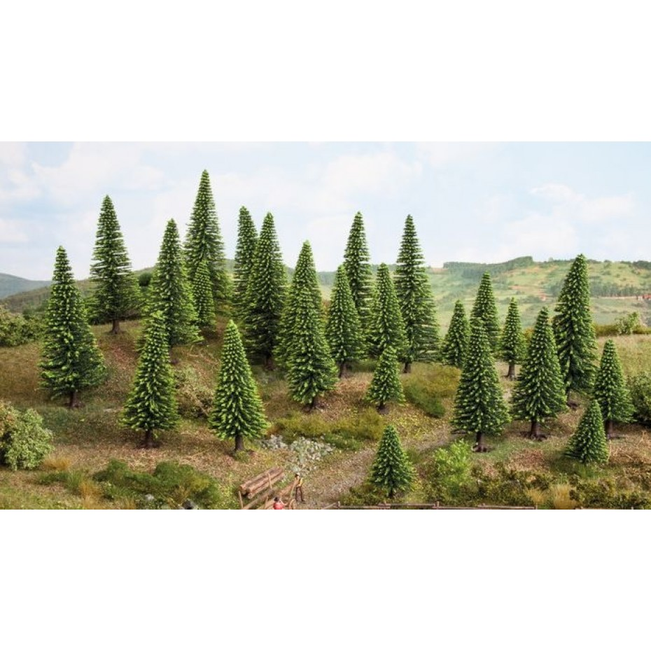 NOCH - 26003 - Hobby spruce   5 to 9cm   15 trees