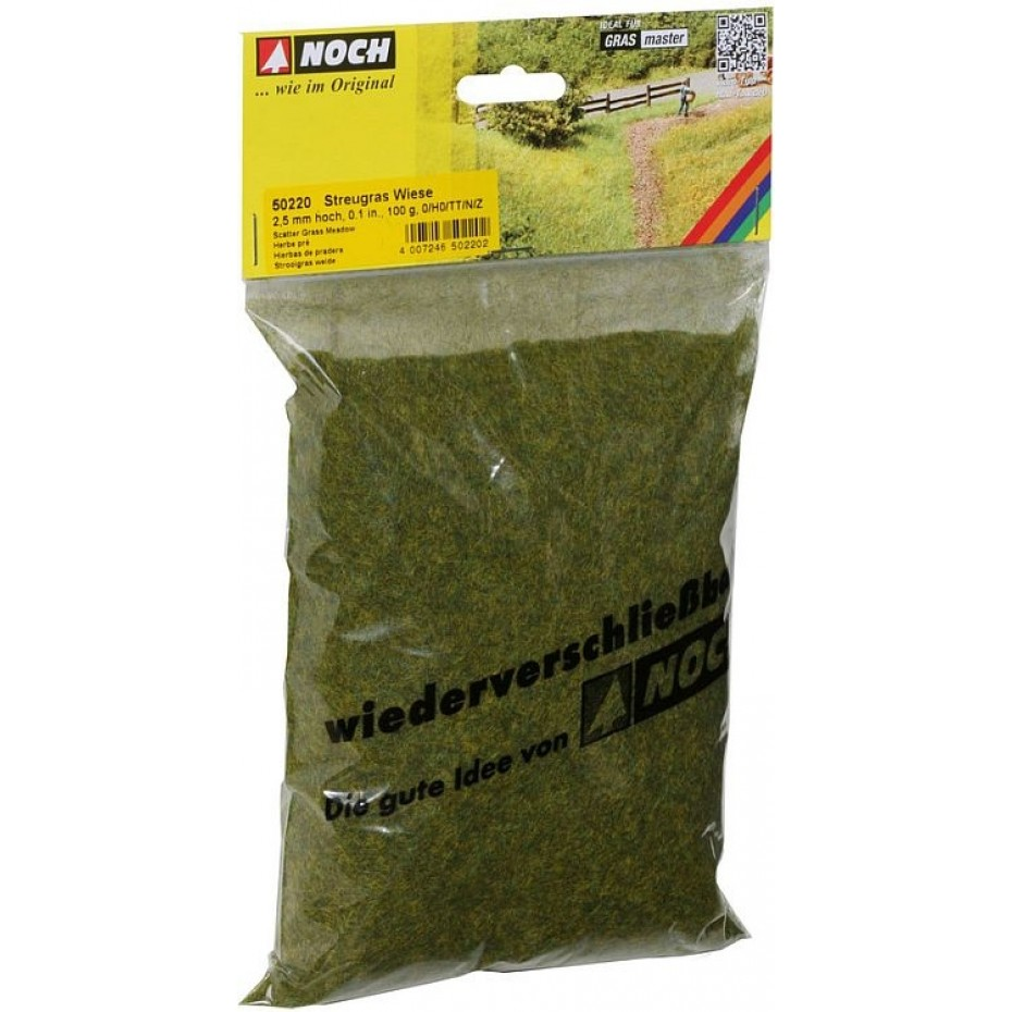 NOCH - 50220 - Scatter Grass Meadow 2,5 mm, 100 g H0,TT,N,Z