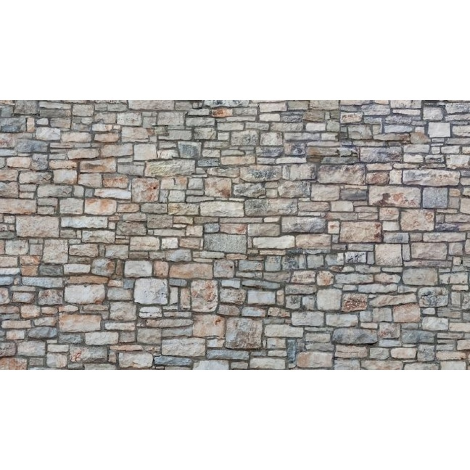 NOCH - 56640 - 3D Cardboard Sheet Quarrystone Wall multi-coloured H0