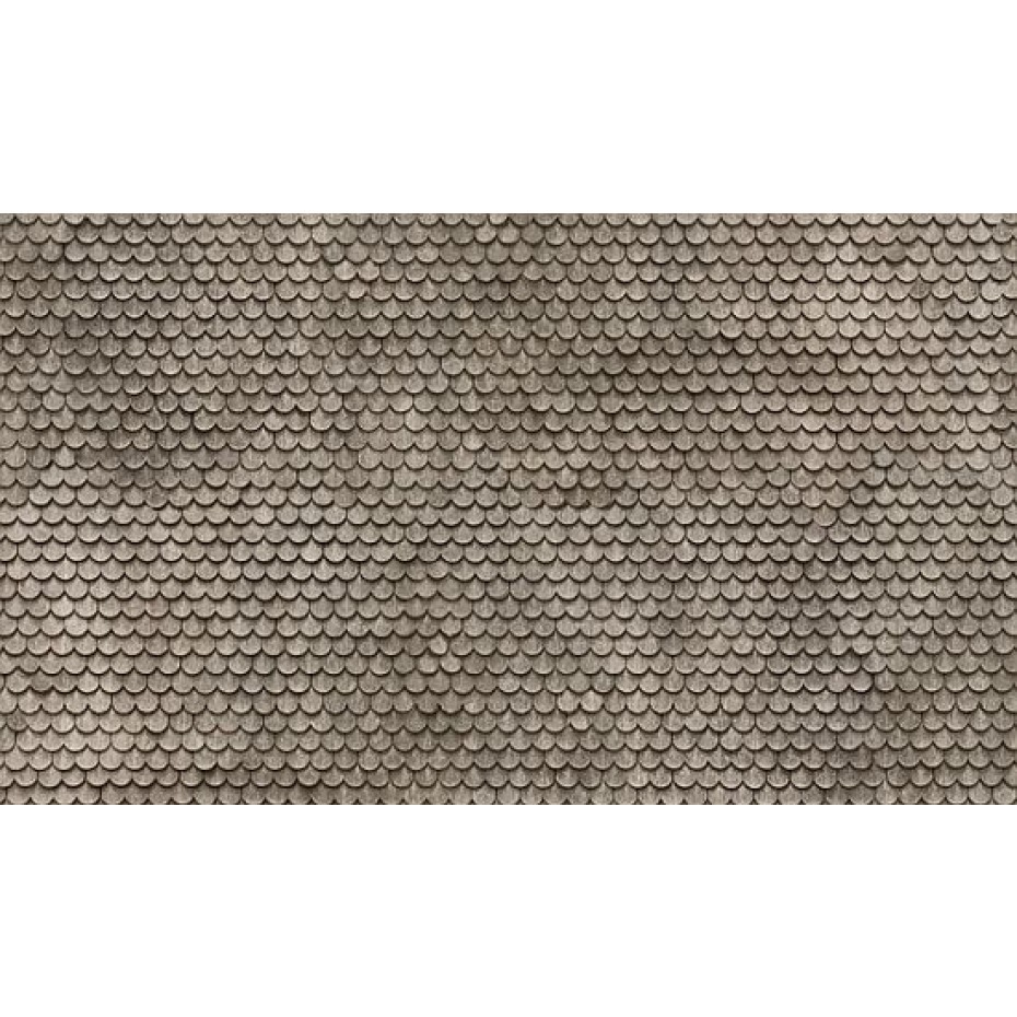 NOCH - 56691 - 3D Cardboard Sheet Plain Tile grey H0