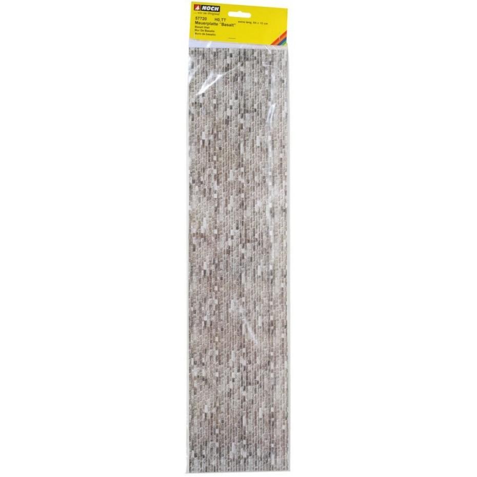 NOCH - 57720 - Carton Wall Basalt extra long, 64 x 15 cm H0,TT