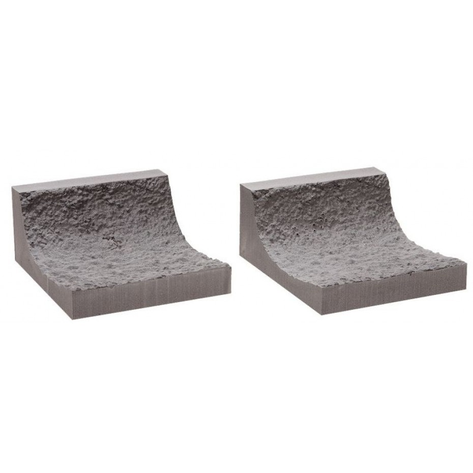 NOCH - 58033 - Interior Rock Tunnel Wall, curved 2 pieces, 9,5 cm long H0,H0E,H0M