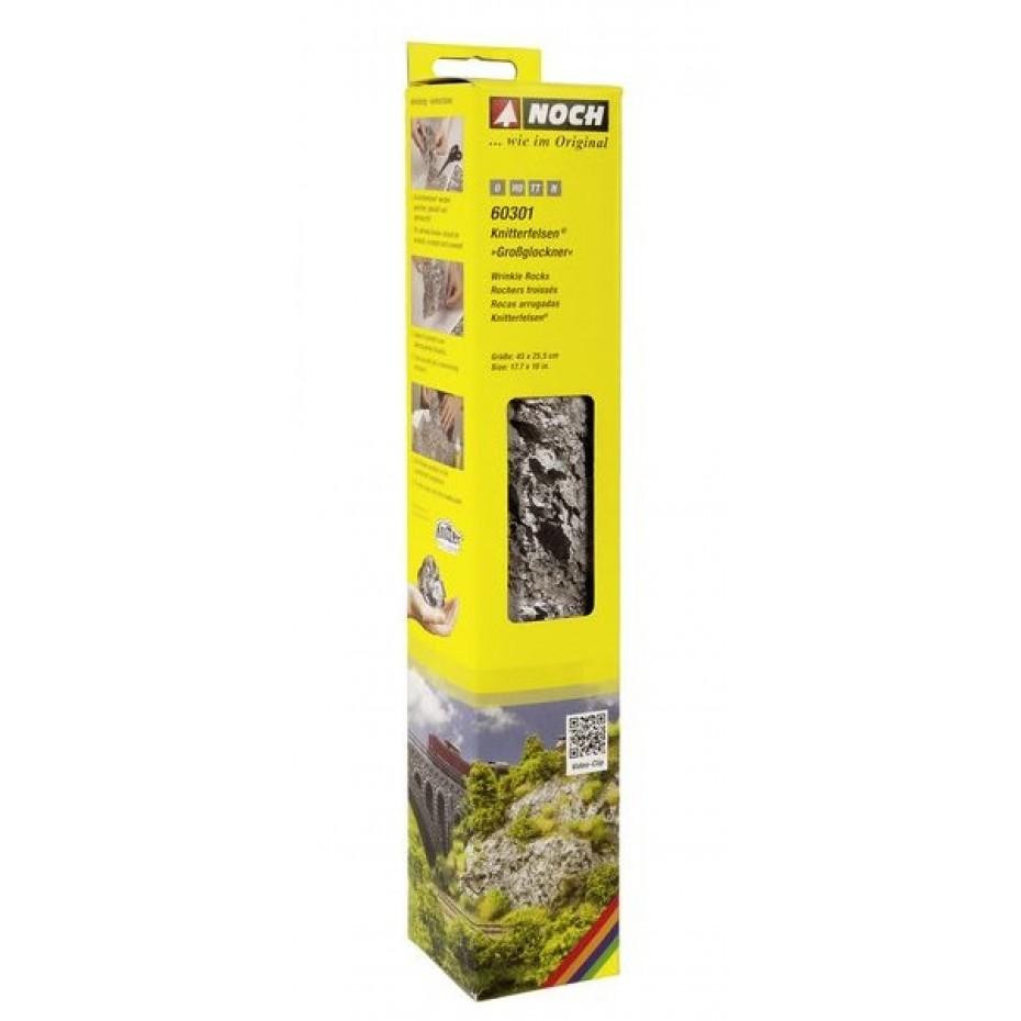 NOCH - 60301 - Wrinkle Rocks Großglockner 45 x 25,5 cm 0,H0,TT,N