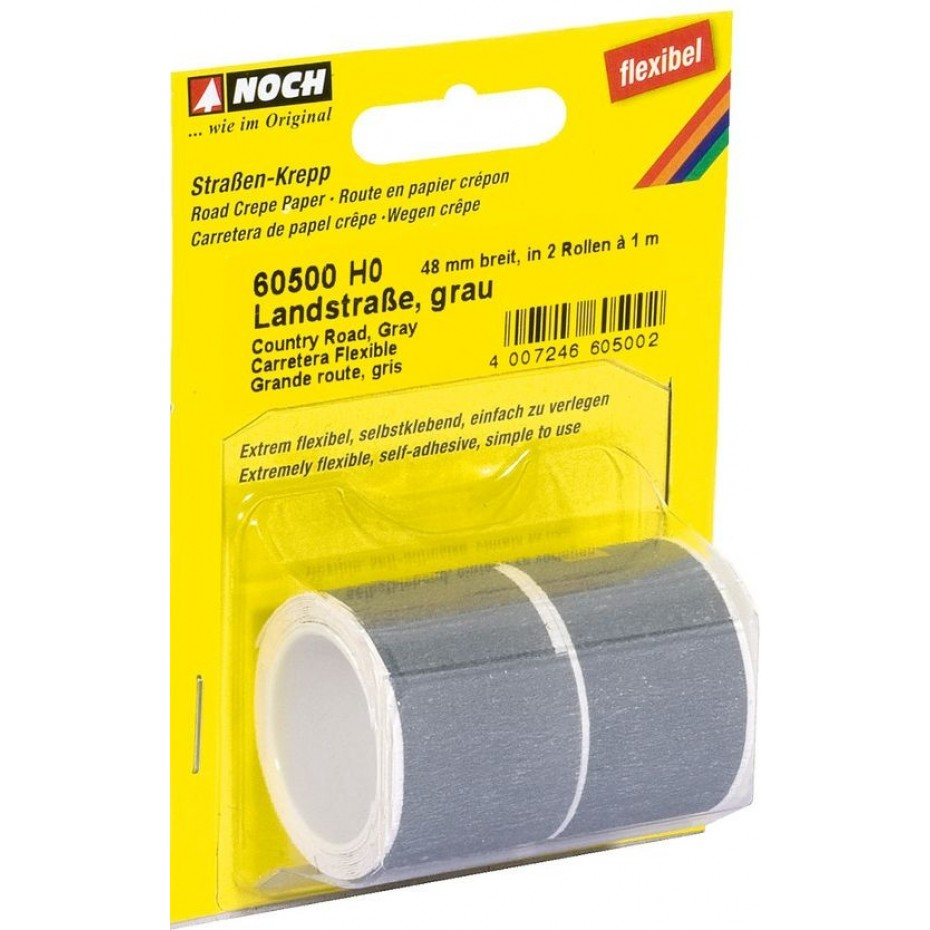NOCH - 60500 - Country Road grey, 100 x 4,8 cm (delivered in 2 rolls) H0