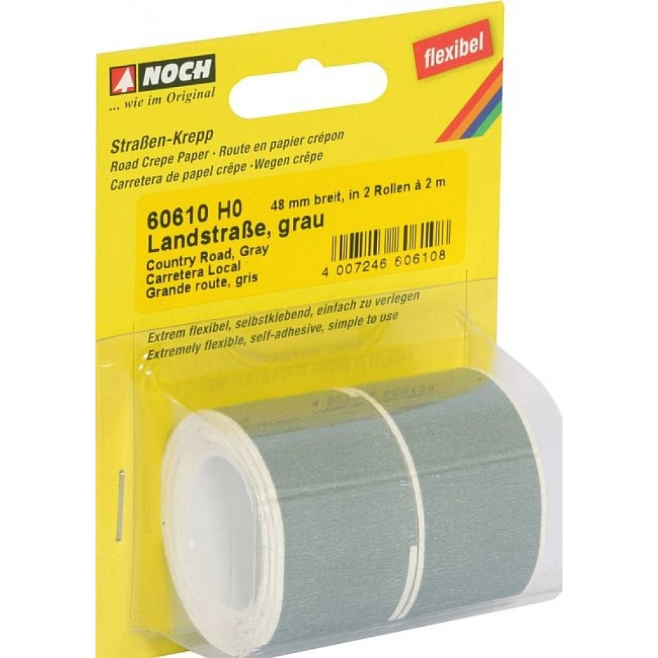 NOCH - 60610 - Country Road grey, 200 x 4,8 cm (delivered in 2 rolls) H0