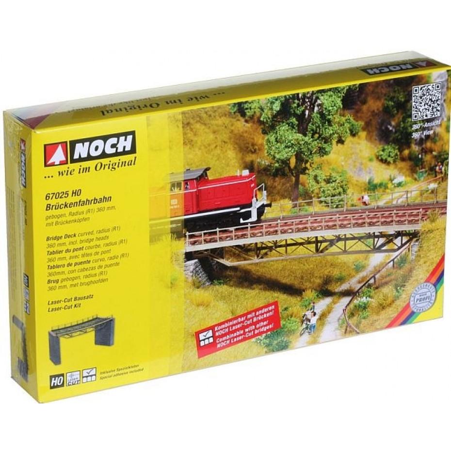 NOCH - 67025 - Bridge Deck, curved with brigdehead, radius (R1) 360 mm H0