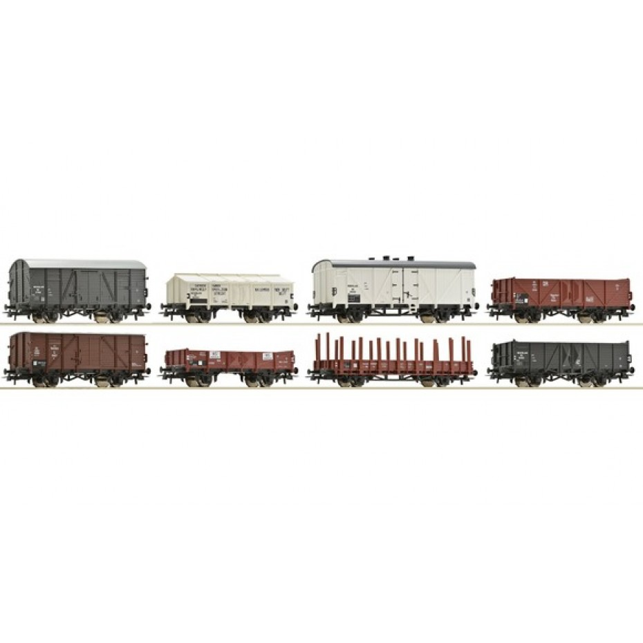 ROCO - 67128 - Goods Freight Wagon set,NS,8pc. NS - Ep III - HO