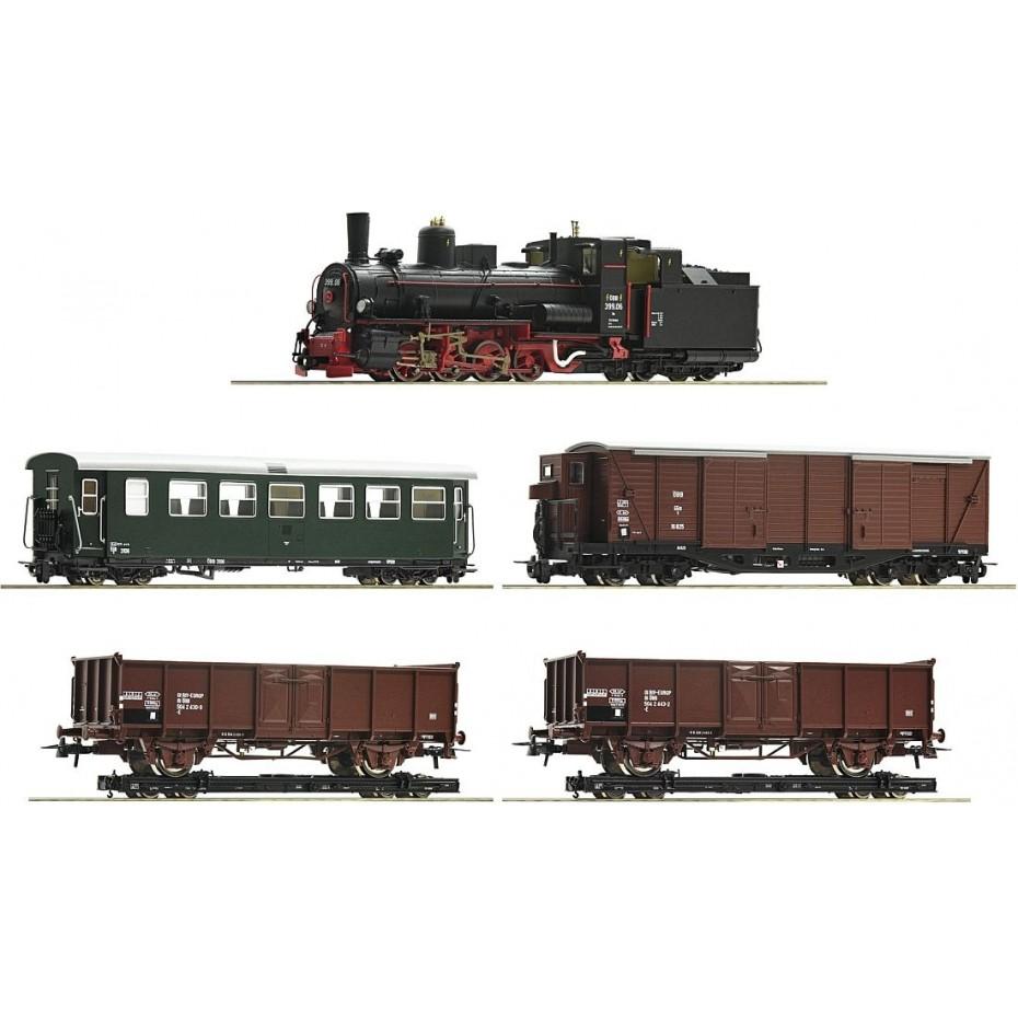ROCO - 31032 - HOe Set Steam loco cl399 + mixed passenger train ep.IV ÖBB