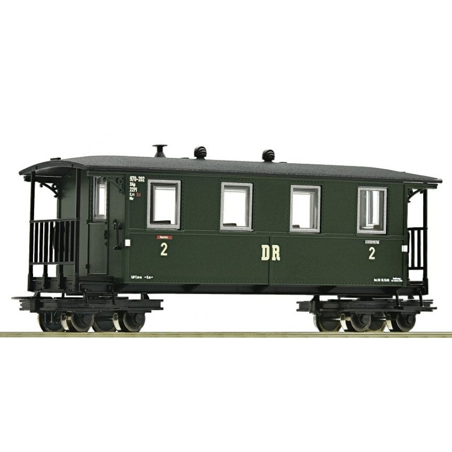 ROCO - 34060 - H0e PersFreight Wagon. 4a. DR green DR - Ep III-IV - HOe