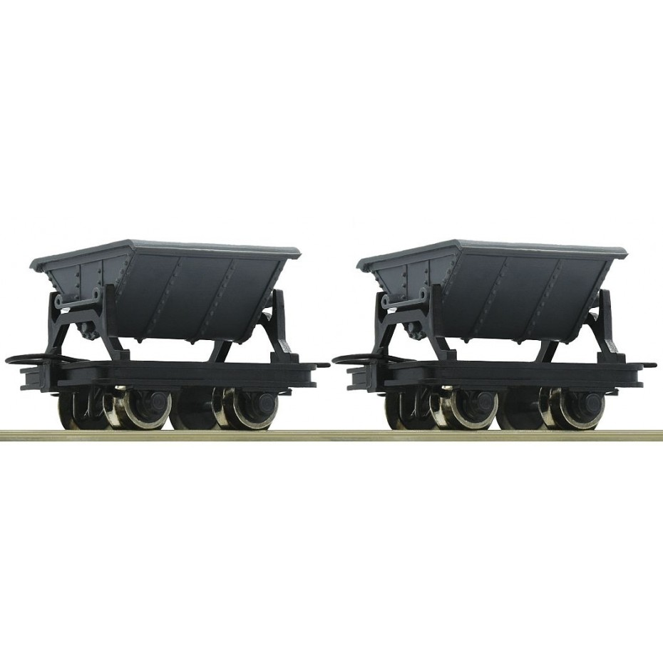 ROCO - 34600 - 2pc.set: tipping Freight Wagon - - HOe