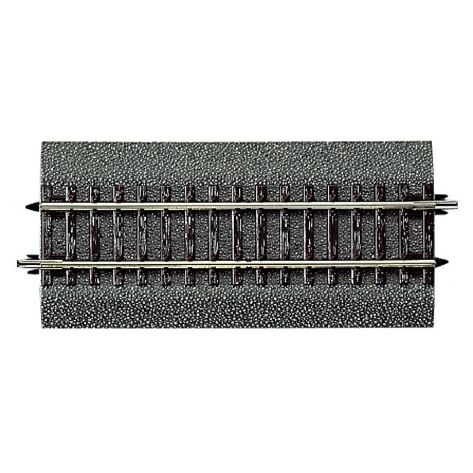 ROCO - 42511 - Straight track DG1, diagonal straight element, with bedding. Length 119 mm. HO/OO