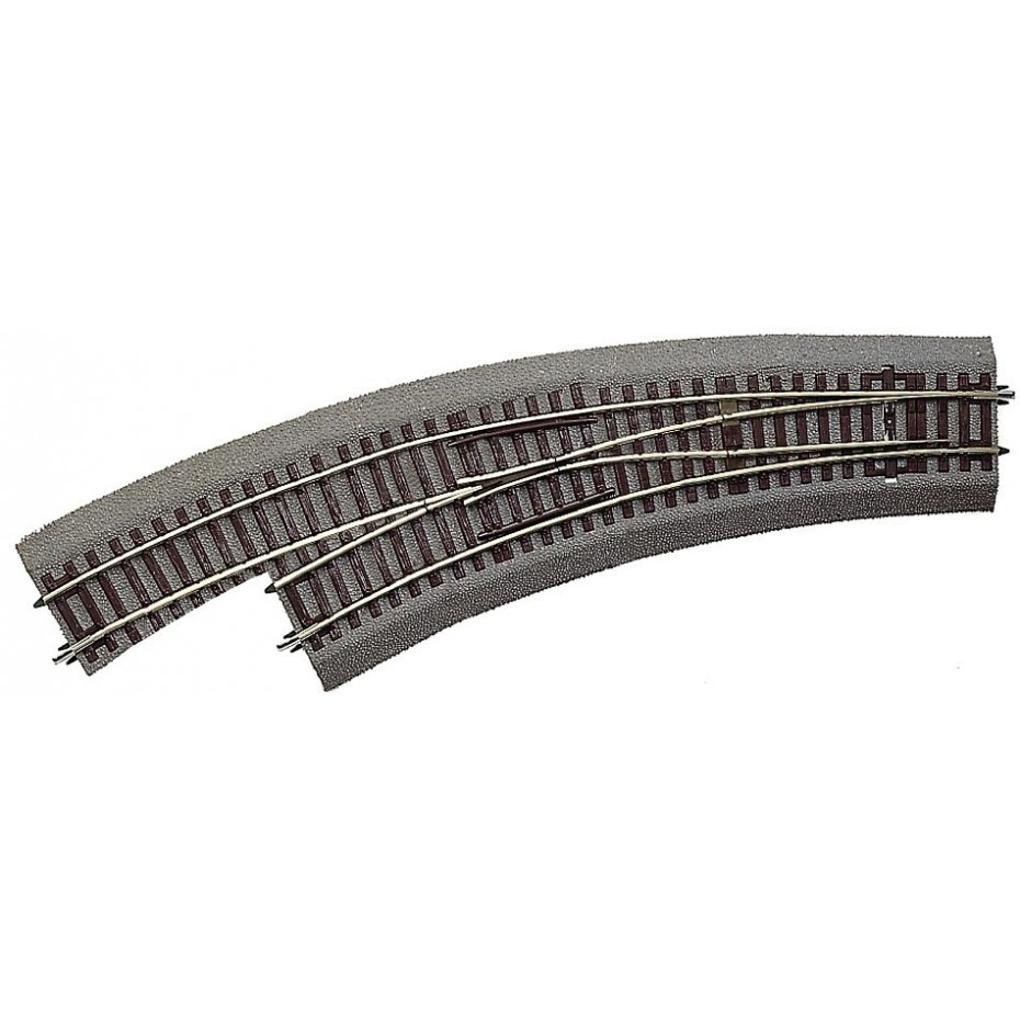 ROCO - 42572 - Curved switch R3/R4 left with bedding HO scale