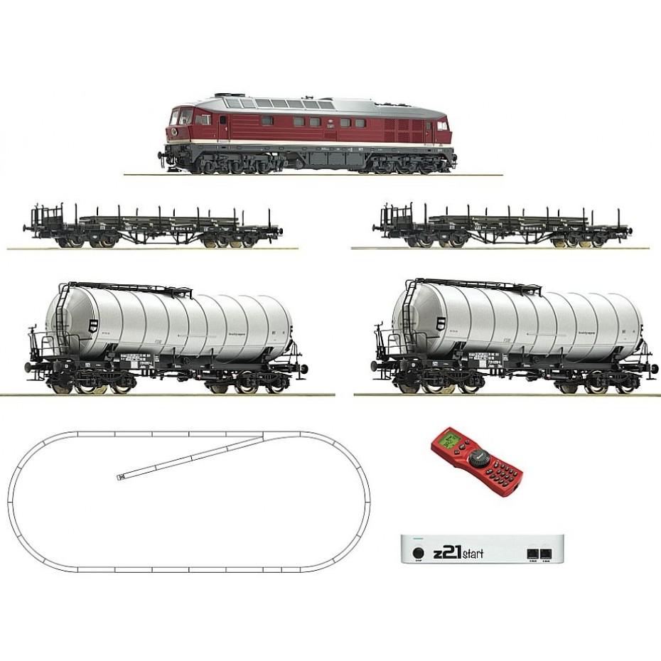ROCO - 51327 - Digital Z21 Starter Set BR142 + 4 Freight Wagons - HO Gauge