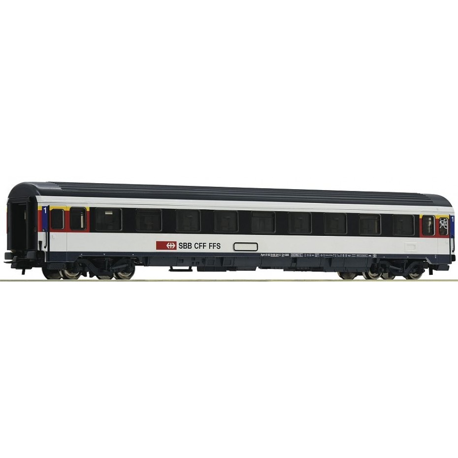 Roco - 54166 - 1st class Eurocity compartment coach SBB ep.VI HO Scale