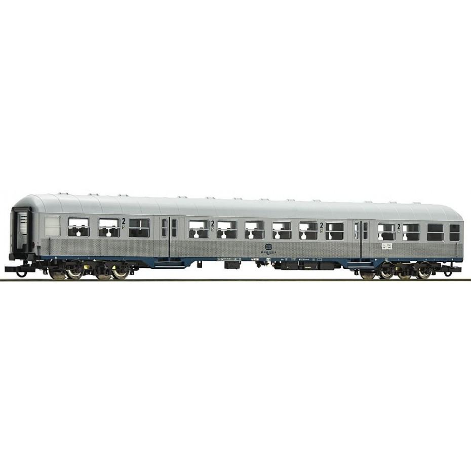 ROCO - 64662 - Silver Passenger Coach 2.Kl. 2. No. DB - Ep III-IV - HO