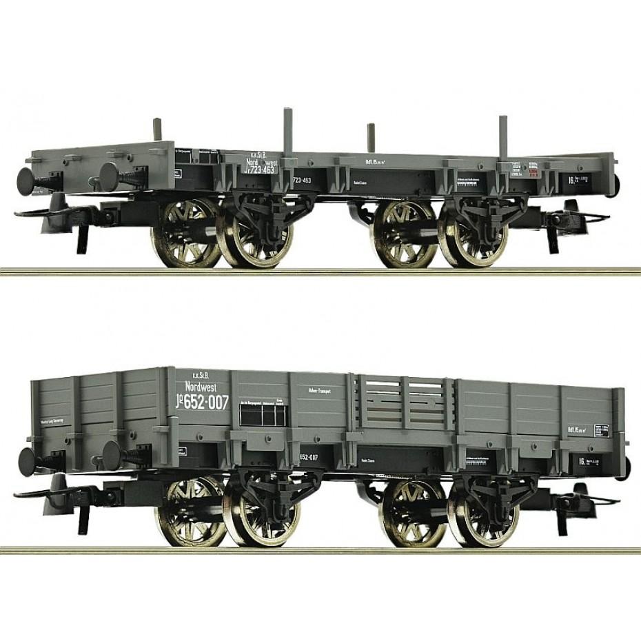 ROCO - 67160 - Set:Opencar Freight Wagon KKSTB.2pcs KKSTB - Ep I - HO
