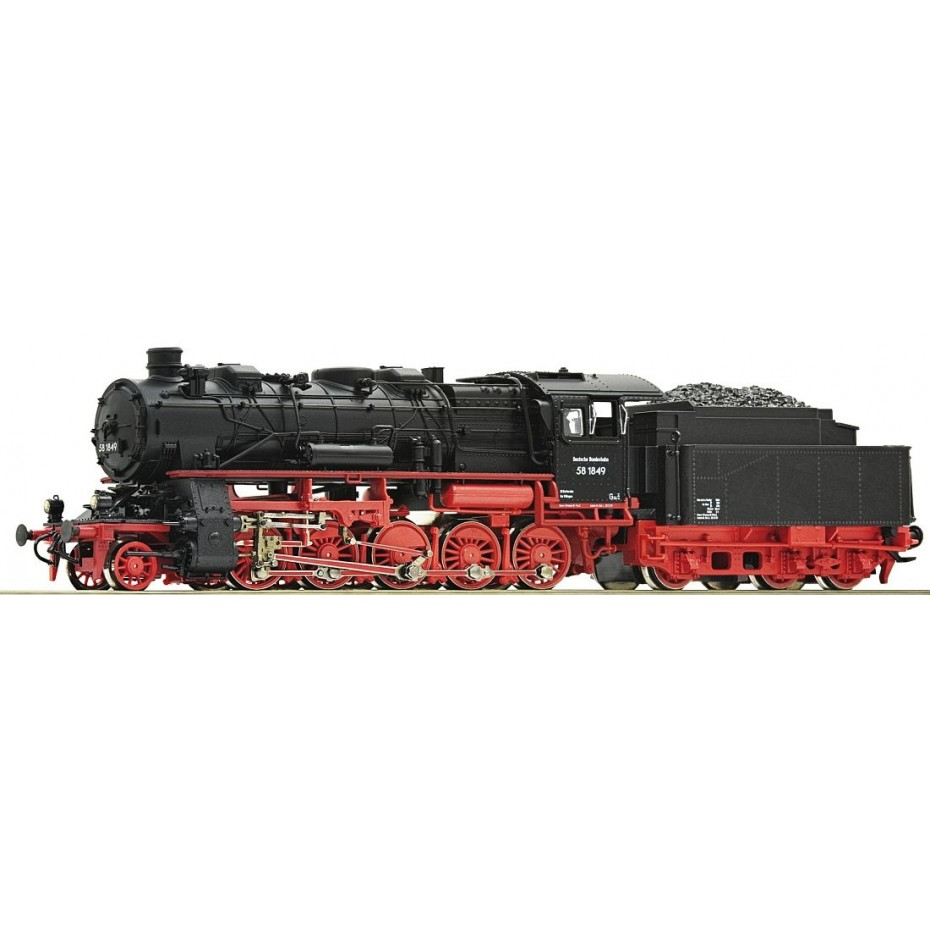 Roco - 71922 - Steam locomotive class 58 DB ep.III HO Scale