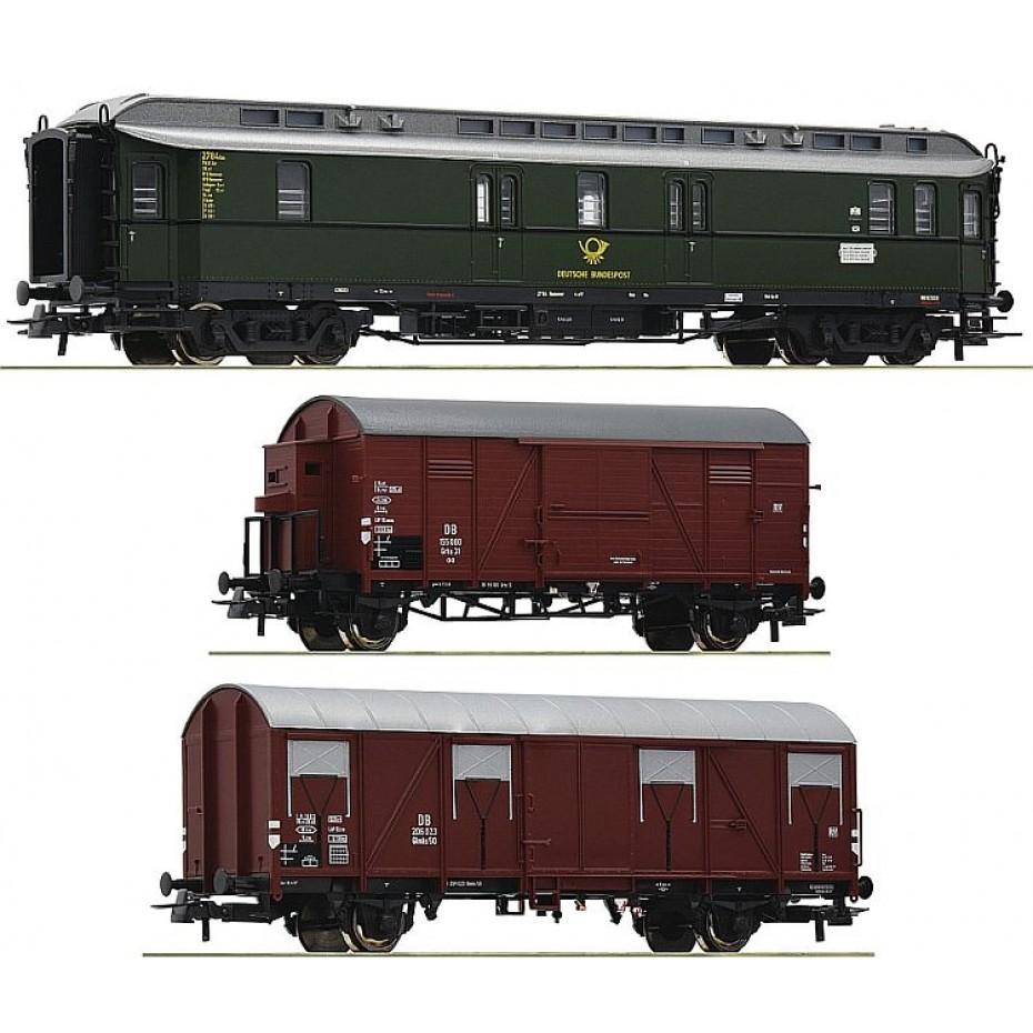 Roco - 74091 - 3 piece set: Post train DB ep.III HO Scale