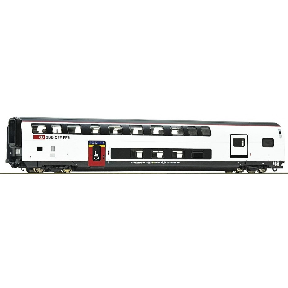 Roco - 74494 - 1st class double deck coach with luggage compartment SBB ep.VI HO Scale