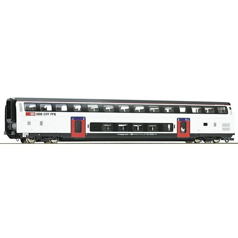 Roco - 74496 - 2nd class double deck coach SBB ep.VI HO Scale