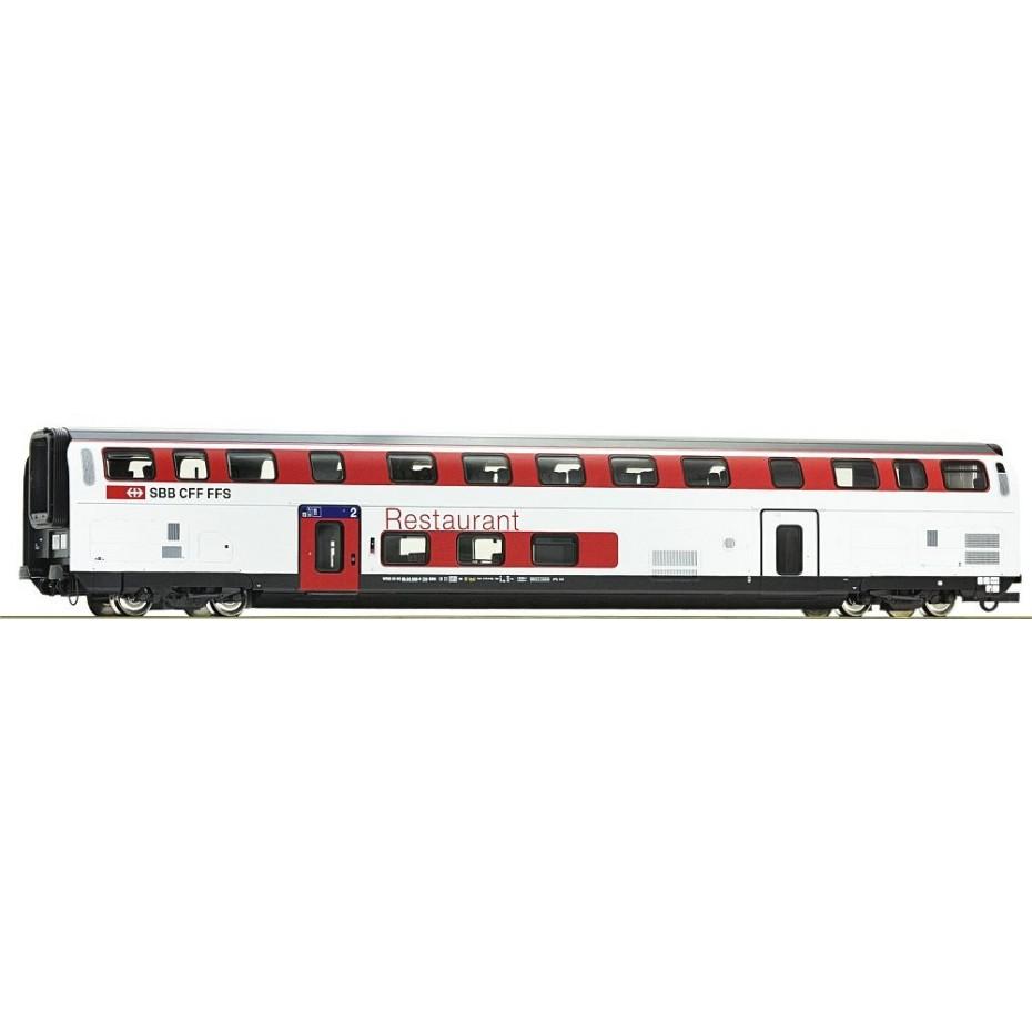 Roco - 74497 - Double deck dining coach SBB ep.VI HO Scale