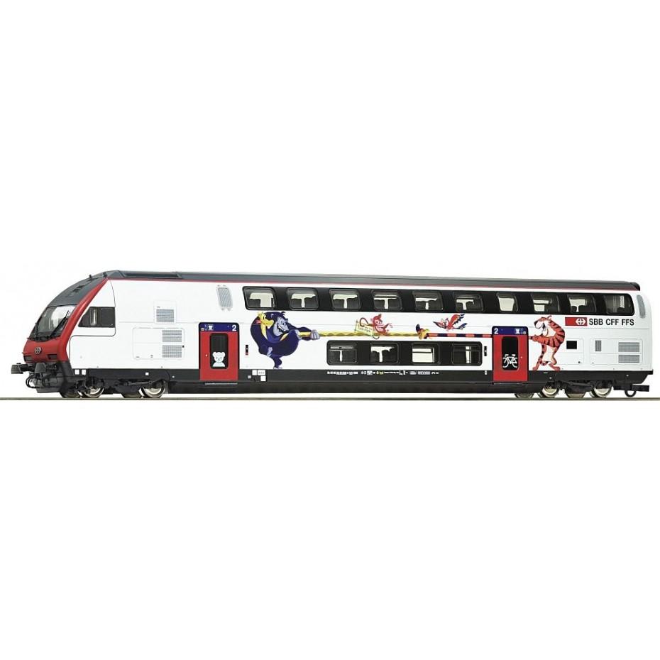 Roco - 74498 - Double deck control cab coach SBB ep.VI HO Scale