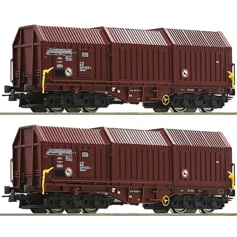 ROCO - 76041 - 2 piece set: Telescopic hood wagons DB ep.IV-V (HO SCALE)