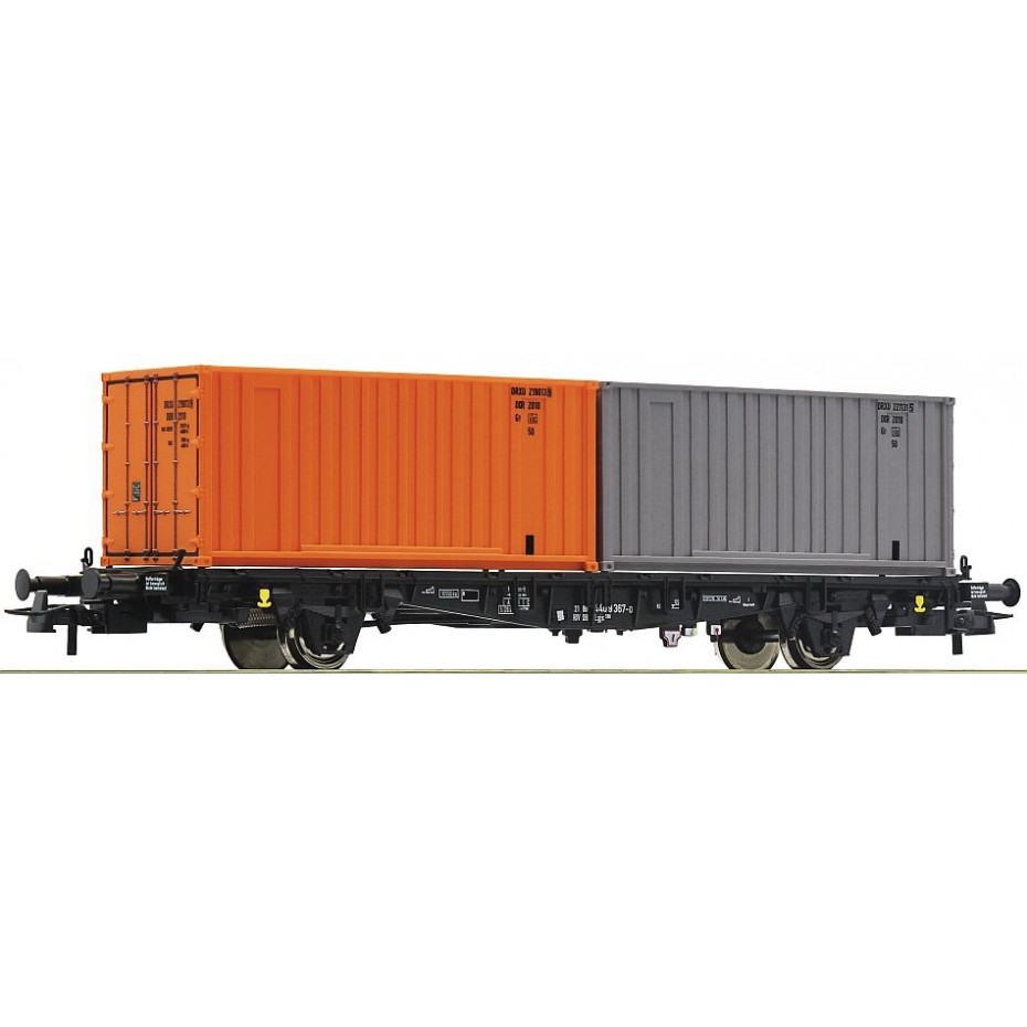 Roco - 76787 - Container carrier wagon DR ep.IV-V HO Scale