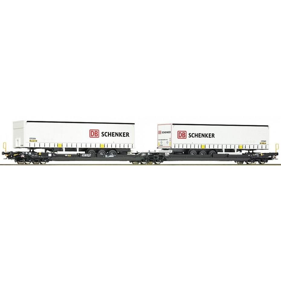ROCO - 77390 - Articulated double pocket wagon T3000e + DB Schenke KOMBI ep.VI (HO SCALE)