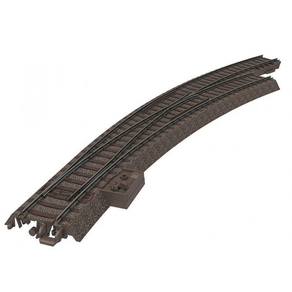 Trix - 62772 - C trk RH curved turnout Right Curved Turnout (HO Scale)