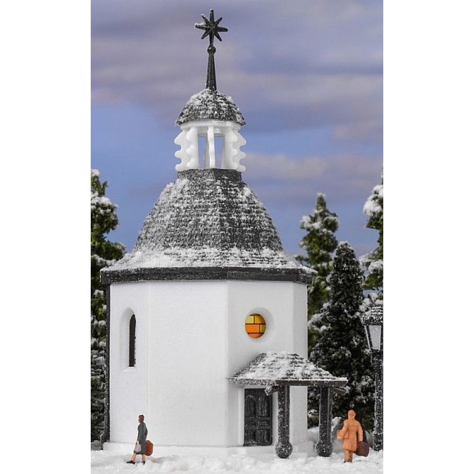 Vollmer - 49412 - Z Silent Night Memorial Chapel with LED lightingand artificial snow, functional kit