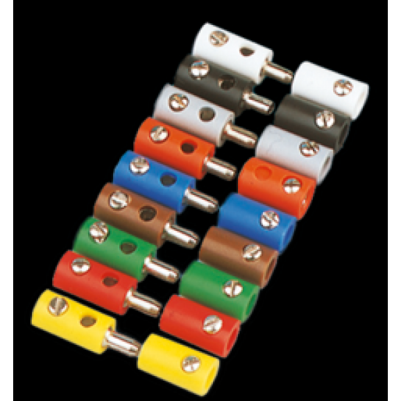 BRAWA - 3042 - Socket round, red [10 pieces]
