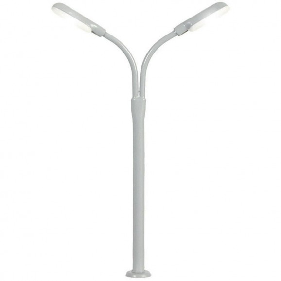 Viessmann - 6495 - N Whip street light double, 2 LEDs white