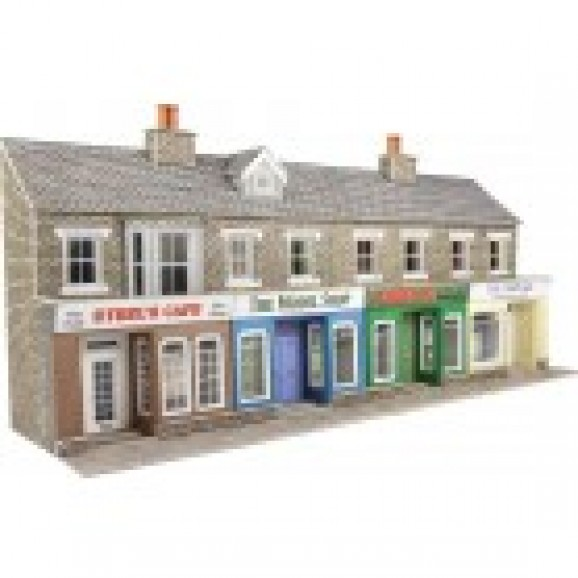 METCALFE - PO273 - LOW RELIEF STONE SHOP FRONTS (HO/OO SCALE)