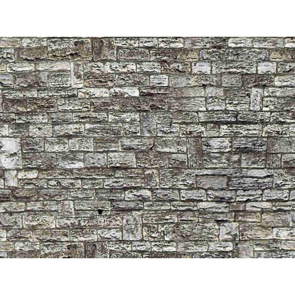 VOLLMER - 46035 - H0 Wall plate cut stone of cardboard, 25 x 12,5 cm
