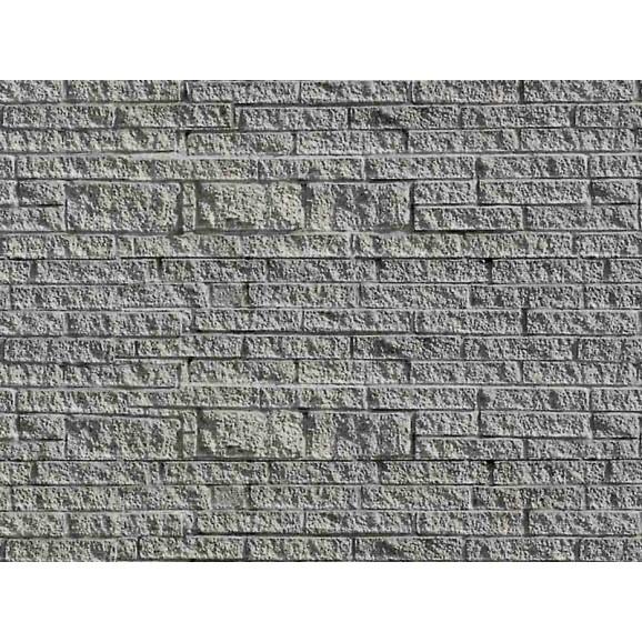 Vollmer - 46039 - H0 Wall plate gneiss of cardboard, 25 x 12,5 cm