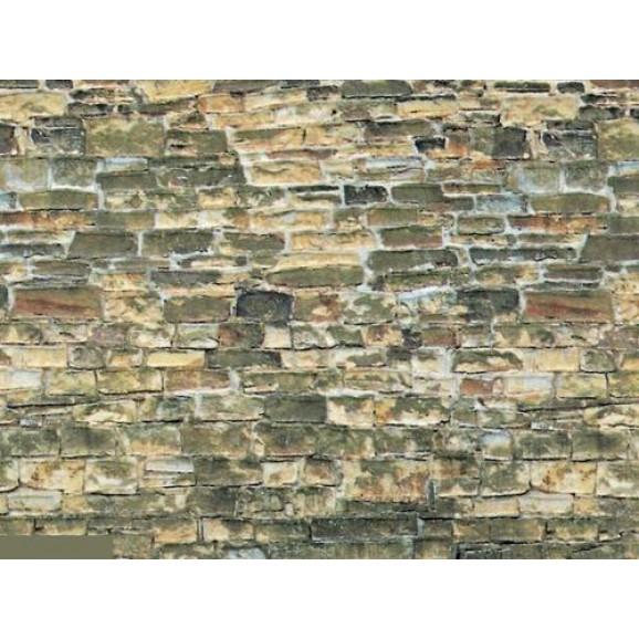 VOLLMER - 46043 - H0 Wall plate natural stone brown cardboard, 25x12.5 cm