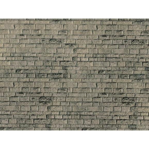 Vollmer - 46049 - H0 Wall plate cut stone natural of cardboard,25 x 12,5 cm