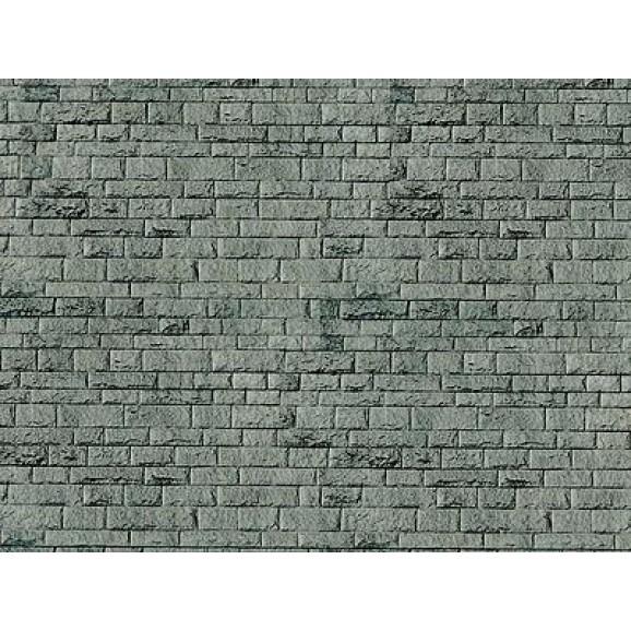 VOLLMER - 46052 - H0 Wall plate porphyr of cardboard, 25 x 12,5 cm