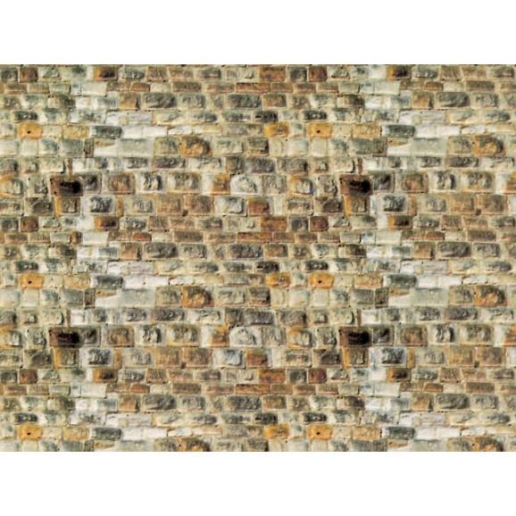 Vollmer - 47363 - N Wall plate sandstone of cardboard, 25 x 12,5 cm