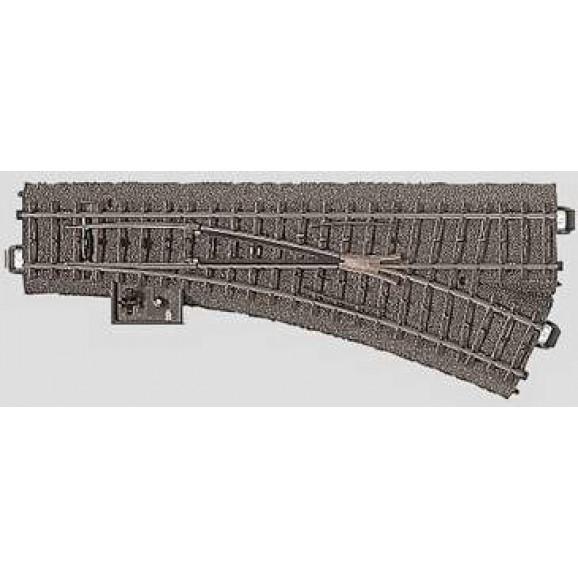 MARKLIN - 024612 - Manual Point right r4 37.5 mm 24.3 HO 3 rail C Track