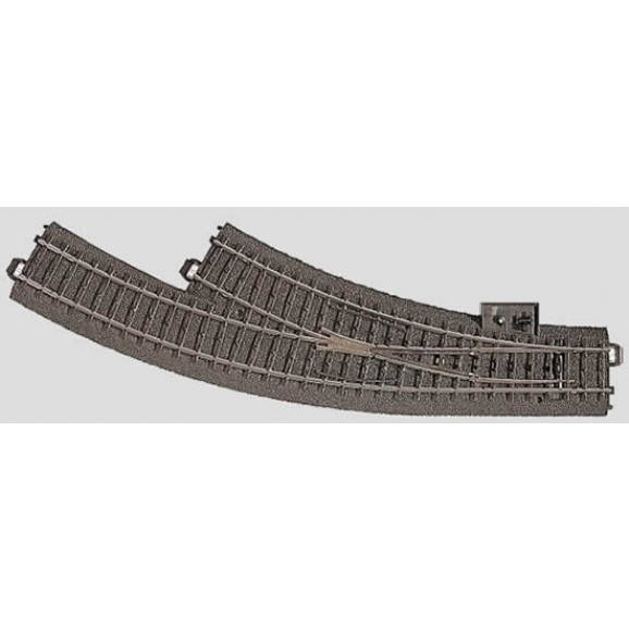 MARKLIN - 024672 - Manual Point Curved right side R360 mm 30 HO 3 rail C Track