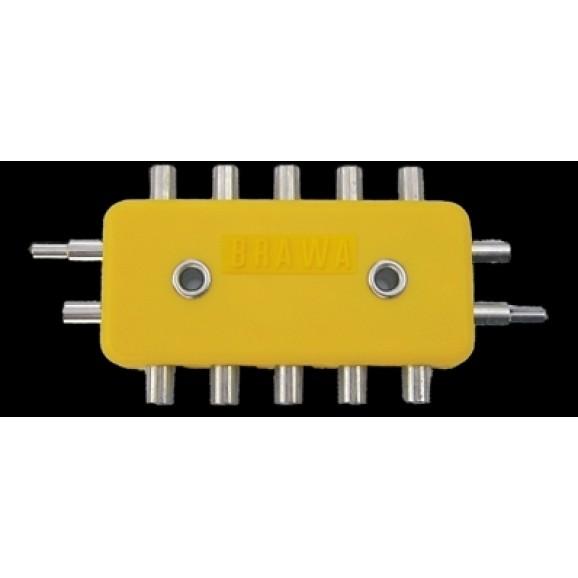 BRAWA - 2593 - Junction Block [5-piece], 2-pole