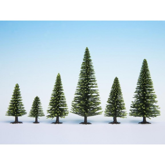 NOCH - 26926 Model Spruce Trees, pieces, - cm high H0,TT